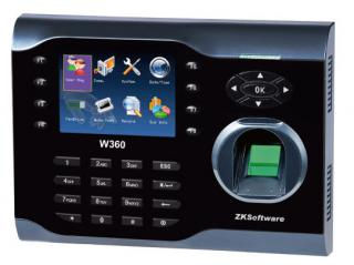 W360 - Мультимедийный терминал учета рабочего времени по отпечатку пальца