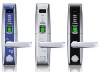 Интеллектуальный замок с сенсором отпечатков пальцев, цветным OLED-дисплеем и ин
